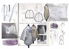 …in the spring I think about the autumn… S/S 2016 Taking Japanese theme as a starting point, I began to explore the ways of using volume, proportion and cutting Mise En Page Portfolio Mode, Fashion Portfolio Layout, Fashion Design Sketchbook, Fashion Sketches, Portfolio Design, Portfolio Ideas, Fashion Illustrations, Textiles Sketchbook, Sketchbook Drawings