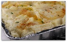 Creamy Oven Baked Mashed Potatoes...I have made these before and they are so good