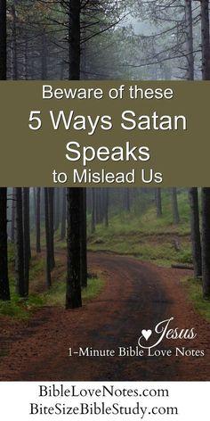 5 Ways Satan Speaks, Trying to Mimic God's Voice