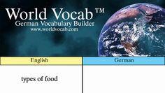 Free German Quick Vocab™: Types of Food - Arten von Lebensmittel Find audio lessons at WorldVocab™! https://video.buffer.com/v/58c97acc30bea3fc2650b545