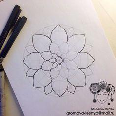 Easy Mandala Drawing, Mandala Art Lesson, Simple Mandala, Mandala Painting, Dot Painting, Watercolor Mandala, Zentangle Patterns, Zentangles, Jesus Painting