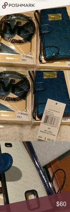 Phone cover Brand:?Michael Kors Model:?32T3MELL1O Condition:?New with Tags  BRAND NEW Michael Kors Samsung Galaxy Note 4 Patent Leather Flip Case in original packaging with price tags attached!?  Slip your ID and credit cards in the 3 pockets for easy access and all-in-one portability. Michael Kors Accessories Key & Card Holders