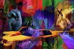 Rush Hour Digital Art - Rush Hour - New York by Daniel Arrhakis New York Graffiti, Street Art News, Nyc Subway, Rush Hour, Urban Art, Digital Art, Wall Art, City, Artwork