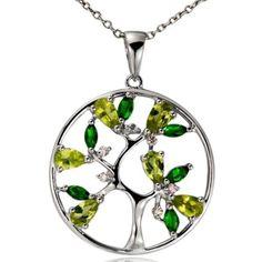 Topaz Gemstone Tree of Life Pendant