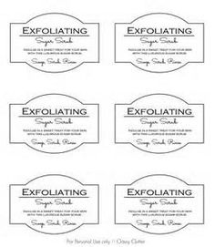 graphic regarding Printable Sugar Scrub Labels identified as No cost Sugar Scrub Label Template - Very simple Craft Guidelines