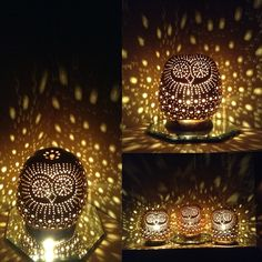 Mr. Night Owl Gourd Lamps