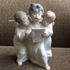 Lladro Three Angels Singing Figurine Choir Trio Boys Group Cherubs Dasia #4542