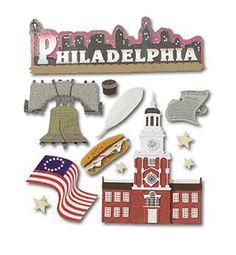 Jolee's Boutique Destination Stickers - Philadelphia at Scrapbook.com $4.15