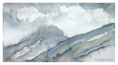 Rainy Day In Scotland, watercolour sketch by Evelyn Flint