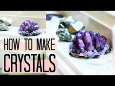 DIY Amethyst Crystals! How to make easy Crystal Clusters at home   Natasha Rose (polymer clay) - YouTube