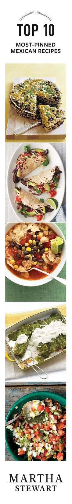 Top 10 Most-Pinned Mexican Recipes from Martha Stewart