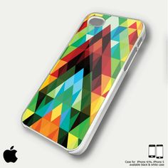 abstract colorful triangle for iphone 4/4s or iphone 5 case   malibujo - Accessories on ArtFire