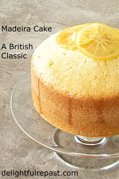 Madeira Cake is a classic British cake that's been around for a couple hundred years. British Baking Show Recipes, British Bake Off Recipes, British Desserts, Great British Bake Off, Baking Recipes, Cake Recipes, Dessert Recipes, British Sweets, Great Desserts