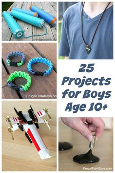 25 Awesome project ideas that tween and teen (probably young teen) boys will go for! Love the X-Wing!