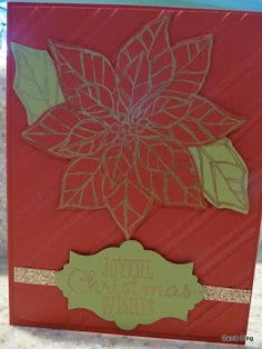 Create in the Sun: Christmas Card Class.  This was my Convention 2013 swap card.