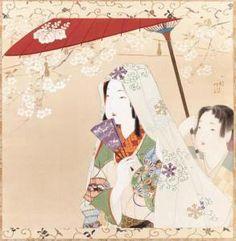 伊藤小坡 Ito Shoha - Daigo No Hana (cherry Blossoms At Daigo) (1877-1968 )