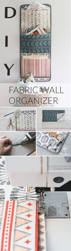 I love decorating my home with handmade accents. It makes my house feel more cozy and adds pops of color in unexpected places. Today, I'll show you how to make this simple hanging wall organizer using 4 coordinating fabrics. The pockets are designed to hold standard size file folders. You can use it in the kitchen to organize mail, the craft room to organize supplies, or the kids' room to organize toys. It's versatile enough to work anywhere in the house!
