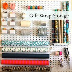 Gift Wrap Storage - perfect DIY for Christmas organization