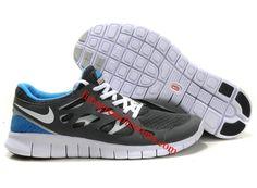 Nike Free Run +2 Mens Shoes Grey White Blue