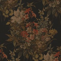 Malagassy Floral – Ebony - California Romantic - Fabric - Products - Ralph Lauren Home - RalphLaurenHome.com
