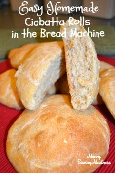 Easy Homemade Ciabatta Bread in the Bread Machine