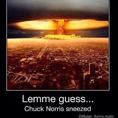 Chuck Norris Sneezed