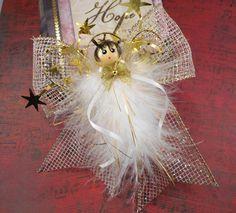 Handmade Angel, Hope Angel, Gold Mesh Angel, Angel Ornament, Teacher Gift, Victorian Angel, Gifts under 20, Keepsake Angel, Party Favor Gift