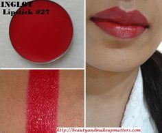 Inglot Freedom System Lipstick 27 Review, Swatch, LOTD