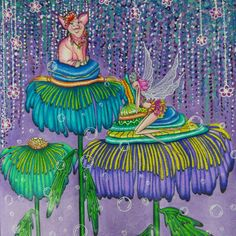 Fairies in dreamland by @denyse_klette_art #fairiesindreamlandcoloringbook #fairieslivehere #fairiesindreamland #colortherapy #denysekletteart #denyseklette #coloringbook #arte_e_colorir #artecomoterapia #bayan_boyan #adultcoloringbook #coloring #coloringforadults #раскраскаантистресс #раскраскадлявзрослых #раскраски #watercolorpainting #derwentinktense #prismacolor #coloringmasterpiece #creativelycoloring #coloringsecrets #coloringforfun #colortherapyclub #colorindolivrostop…