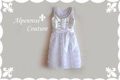 """Dirndl Couture """"Snow WHITE"""" Kommunion, Taufe von krabbelkee collection by Feenland auf DaWanda.com"""