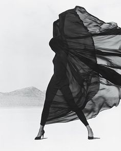 Versace Veiled Dress, El Mirage, 1990.
