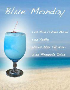 Blue monday pina colada