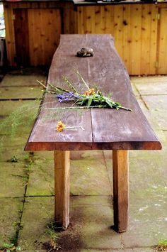 Rustic Banquet Table Outdoor Wedding Sustainable Black Locust Custom Green Eco Friendly Furniture Original Design