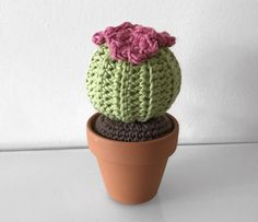 Crochet Cactus Series – Round Barrel Cactus – ZoeCreates