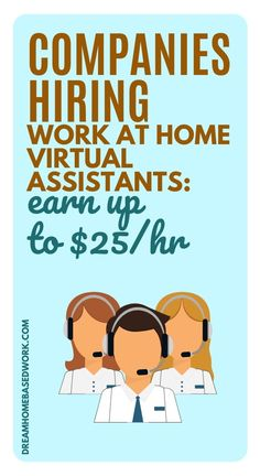 Virtual Assistant jobs are becoming very popular. Becoming a Virtual Assistant allows you to work from home without the hassle of commuting back and forth to work. Here are 12 companies now hiring. Home Based Work, Work From Home Jobs, Earn Money From Home, Earn Money Online, Working From Home Meme, Virtual Assistant Jobs, Office Assistant, Companies Hiring, Jobs Hiring