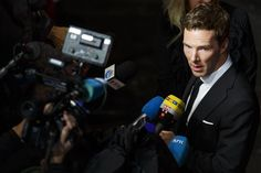 "Benedict Cumberbatch at the opening gala premiere of ""The Imitation Game"" at The 58th London Film Festival on October 8, 2014 in London, England."