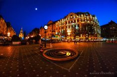 Timisoara, in the evening - photo by Razvan Vitionescu Romania, Mansions, House Styles, Photography, Travel, Mansion Houses, Fotografie, Photograph, Viajes