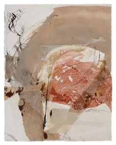 Bauxite by Fran Skiles / Ink, water based paints, photography and papers with acrylic medium.