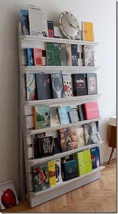 10 ideas para fabricar una estantería con paléts de madera.   Mil Ideas de Decoración