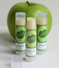 Buy two get a third FREE! Apple Beeswax lipbalm by HancoxHomestead on Etsy, $3.50