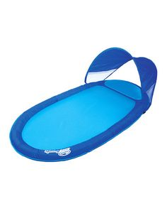 Take a look at this Swimways Blue Spring Float Pool Lounger & Canopy by Swimways on #zulily today!