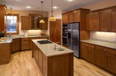 traditional kitchen by CliqStudios  Modern Oak, light countertops/walls, stainless
