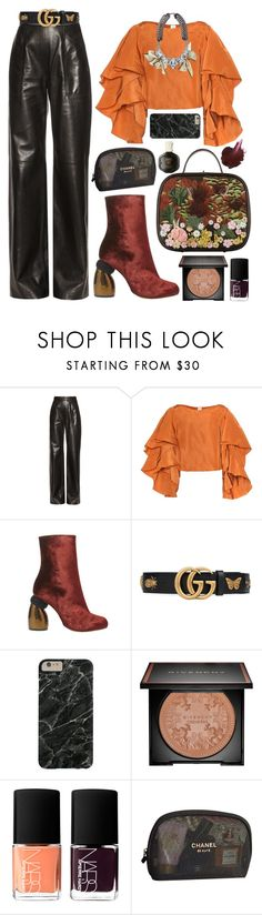 """""""Sin título #1423"""" by meelstyle ❤ liked on Polyvore featuring Maison Rabih Kayrouz, Rosie Assoulin, Fenton, Dries Van Noten, Gucci, Givenchy, Anna Sui, NARS Cosmetics and Chanel"""
