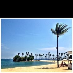 Tanjong Beach, Singapore . Views from Tanjong Beach Club. Best beach spot in Singapore