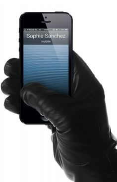 Leather, touchscreen enabled by Mujjo (www.mujjo.com) $167.38