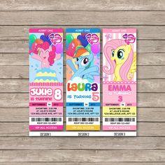 My little pony Birthday Invitations / Birthday Party card - Digital Printable File -- Movie Party idea