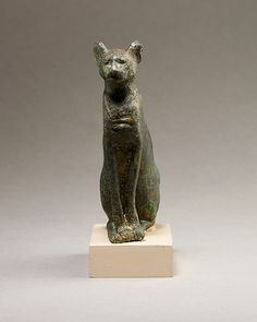 Cat, 664–30 B.C.. Egyptian. The Metropolitan Museum of Art, New York. Gift of Darius Ogden Mills, 1904 (04.2.812) #cats