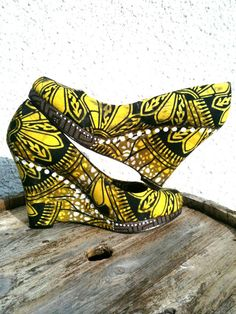 African Fabric Shoes Kezi by SouthOfAfrica on Etsy, $75.00