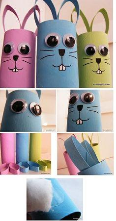 DIY Paper Roll Bunny