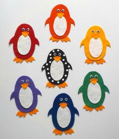 Pippa's Penguins Colors Felt Story Board PDF Pattern, Toddler and Preschool Learning Activity, Library Story Time Resource, Polar Animals - Parenting Flannel Board Stories, Felt Board Stories, Felt Stories, Flannel Boards, Felt Board Patterns, Preschool Learning Activities, Preschool Ideas, Preschool Colors, Literacy Games